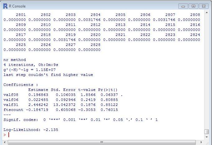 Exported JCapper StarterHistory data in r's mlogit module