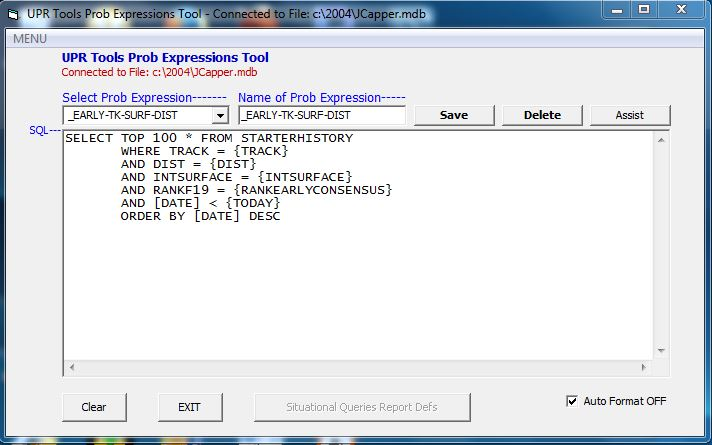Prob Expressions Tool