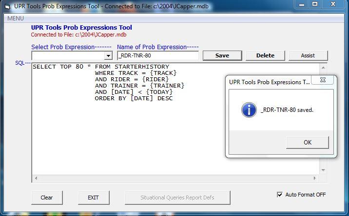 Prob Expressions Tool