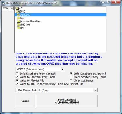 Building JCapper Databases