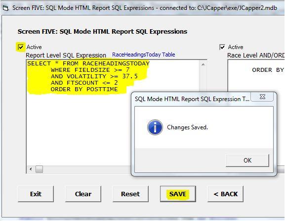 Screen5 SQL Factor Setup Tool